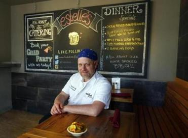 Eric Gburski of Estelle's, a Southern-inspired restaurant, noted pickles seemed a safer option than warm cornbread.